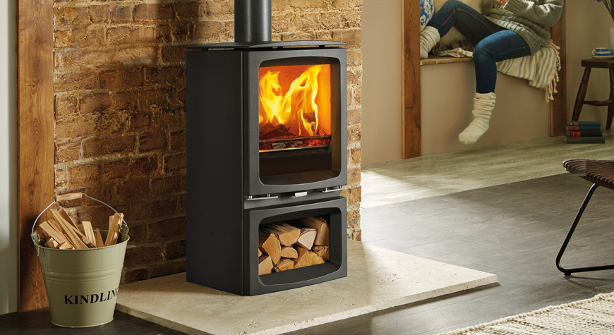 Woodburner Package Deal Inc Fitting - Stovax Vogue Midi - £2060 inc vat