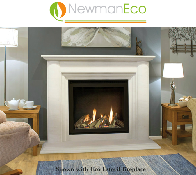 Newmans - Ultra Vision H/E Gas Fire shown with Eco Estoril Fireplace