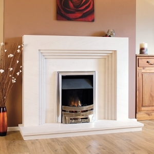 The Borba Limestone Fireplace
