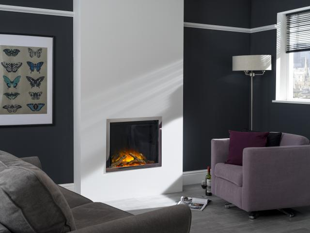 Flamerite Electric Fires - Gotham 600 Four sided Frame Wall Mounted Fire