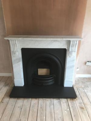 Natural Marble Fireplaces and Solid Fuel