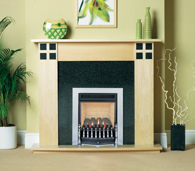 Burley Environ Chrome Flueless Gas Fire
