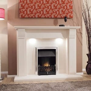The Camacha Limestone Fireplace