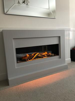 Corian Fireplace and Electric Fire
