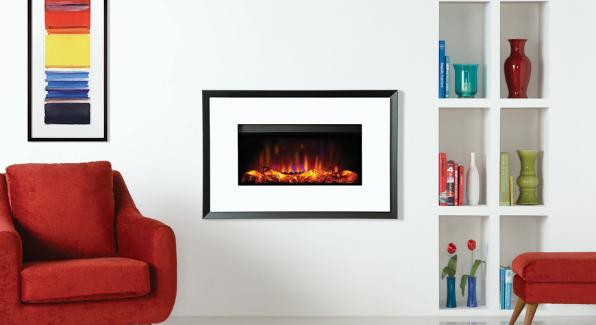 Gazco Riva2 670 Electric Evoke Wall Mounted Fires
