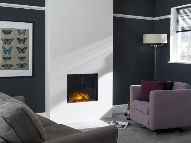 Flamerite Electric Fires - Gotham 600 Frameless Wall Mounted Fire