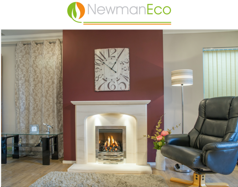 Newmans - Definition H/E Gas Fire shown with Avalade Fireplace