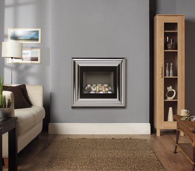 Burley Image Chrome Flueless Gas Fire