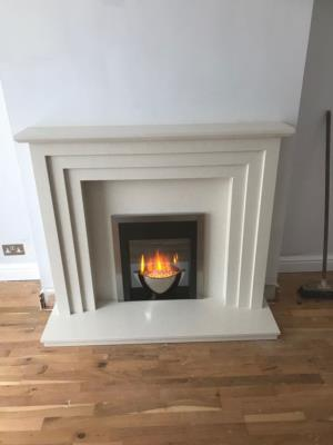 Marble Fireplace and Londa Electric Fire