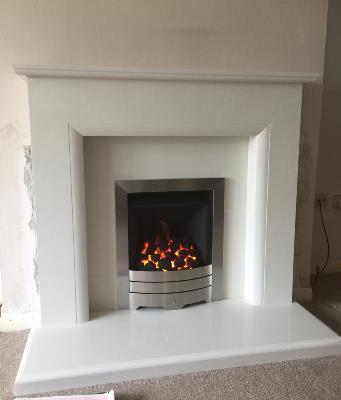 Sophia Micro Marble and Legend Gas Fire