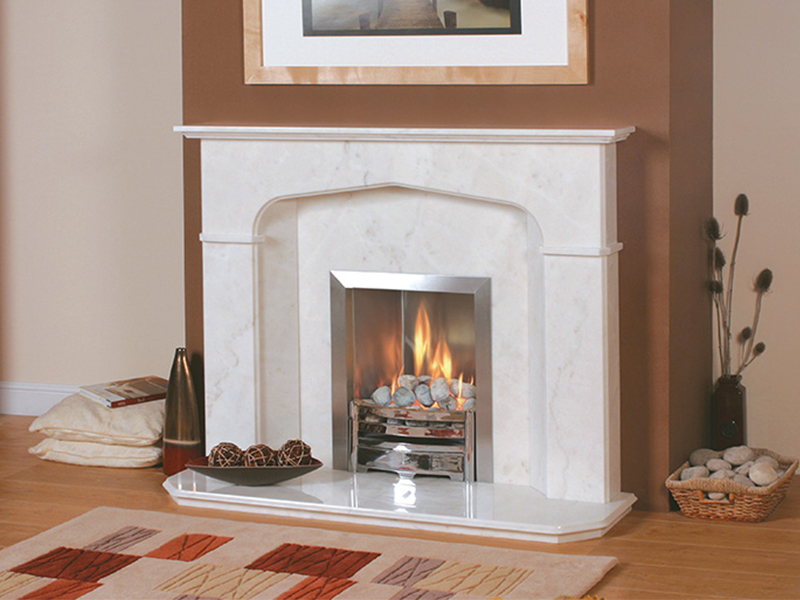 Newmans Salerno Marble Fireplace