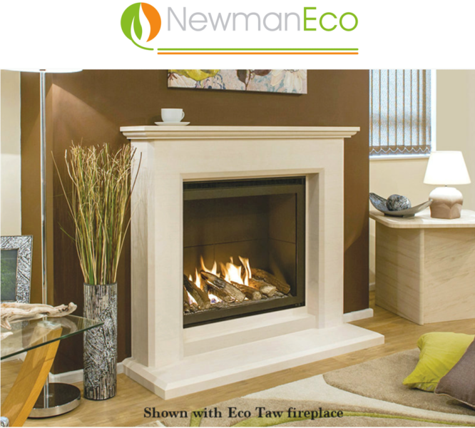 Newmans - Ultra Vision H/E Gas Fire shown with Eco Taw Fireplace