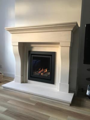 Limestone Fireplaces and Gas Fire