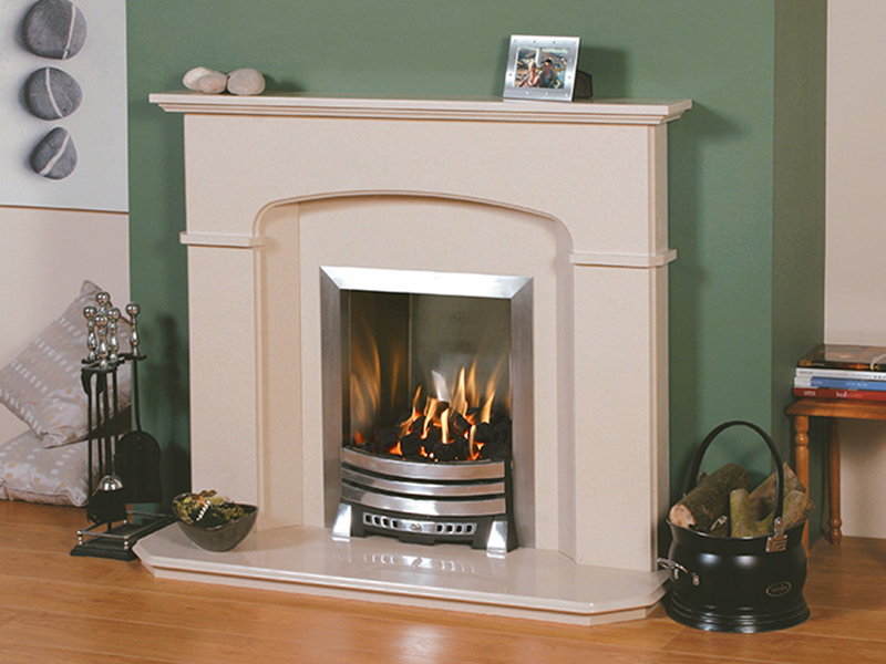 Newmans Milano Marble Fireplace