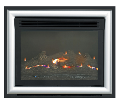 Burley Acumen Flueless Gas Fire Two Tone Chrome