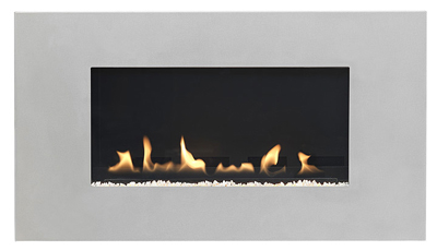 Latitude 4500 + 842 trim Flueless Gas Fire