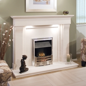 The Barcelos Limestone Fireplace