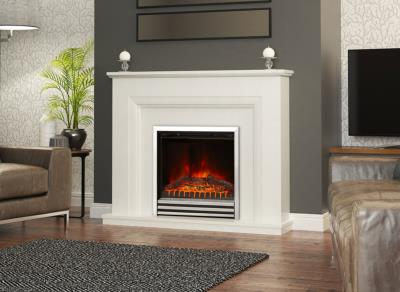 Amorina Marble Electric Fireplace Suite - Elgin and Hall