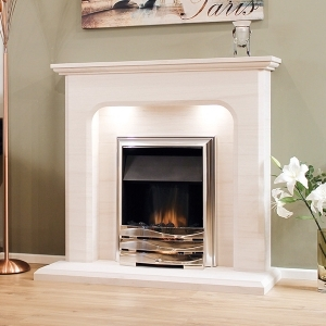 The Birre Limestone Fireplace