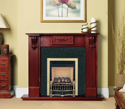 Burley Environ Brass/Black Flueless Gas Fire