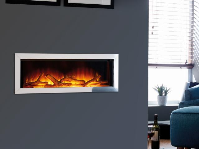 Flamerite Electric Fires - Gotham 900 four sided Frameless Wall Mounted Fire